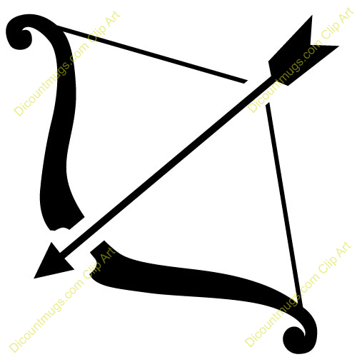 Bow and Arrow Clip Art.