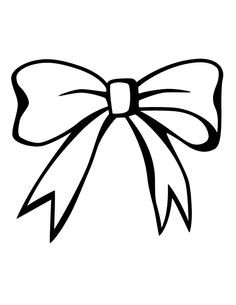 Christmas Bow Clipart Black And White.