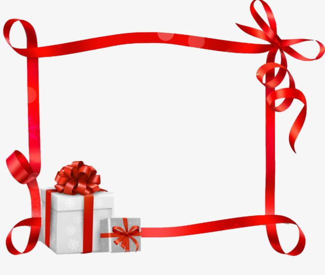 Gift Ribbon Border PNG, Clipart, Backgrounds, Birthday, Border.