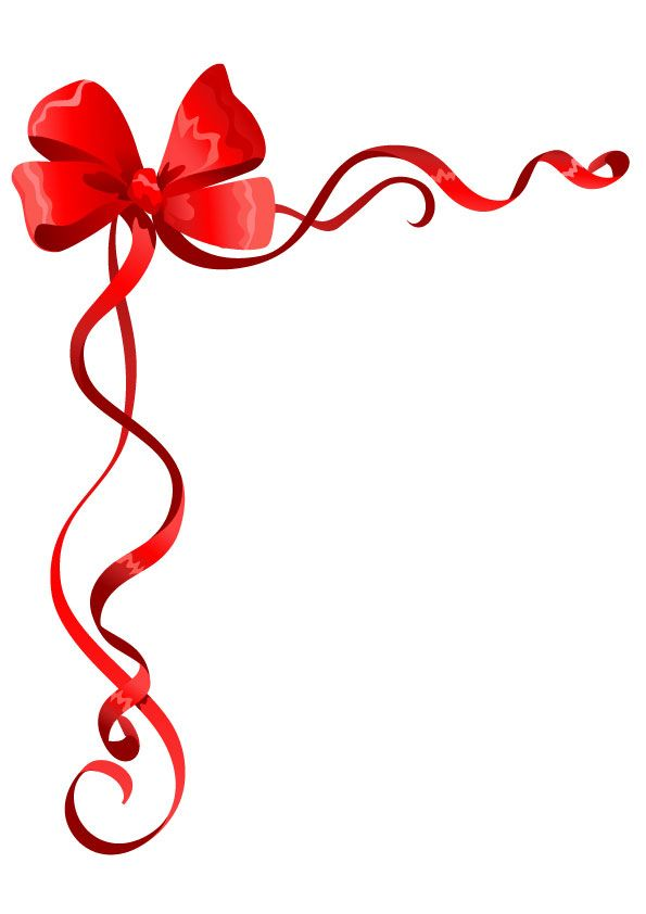 Ribbon with bow stationary.