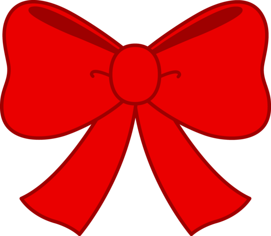 Cute Red Bow Clipart.