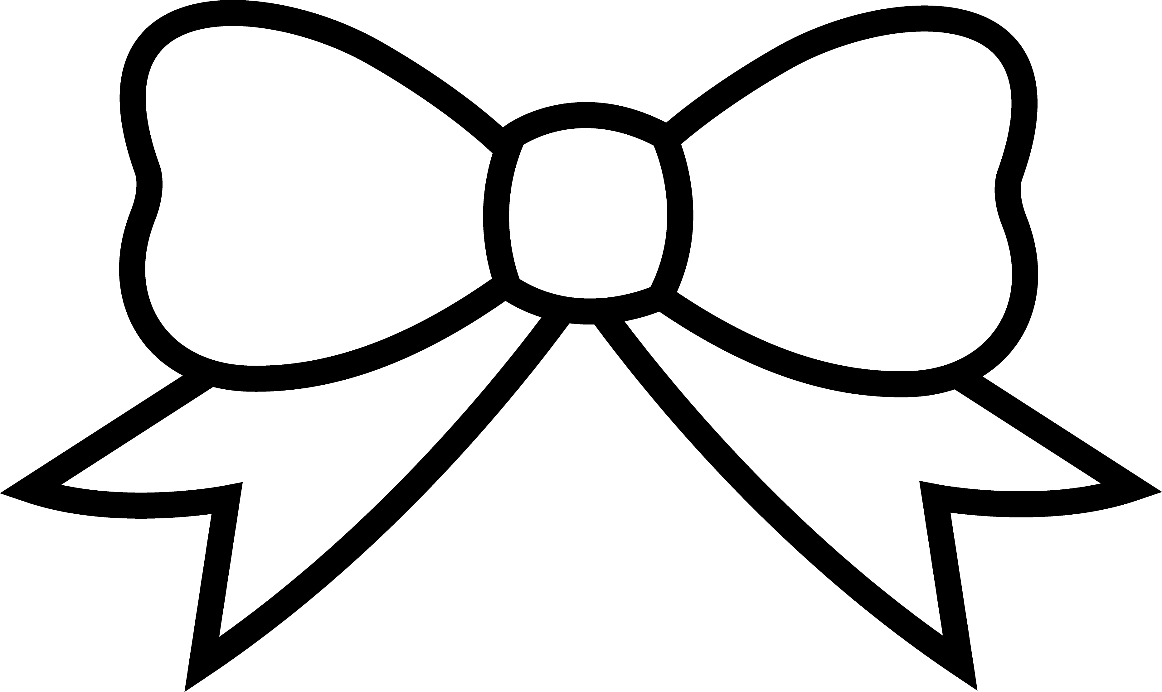 Bow Clipart Black And White.