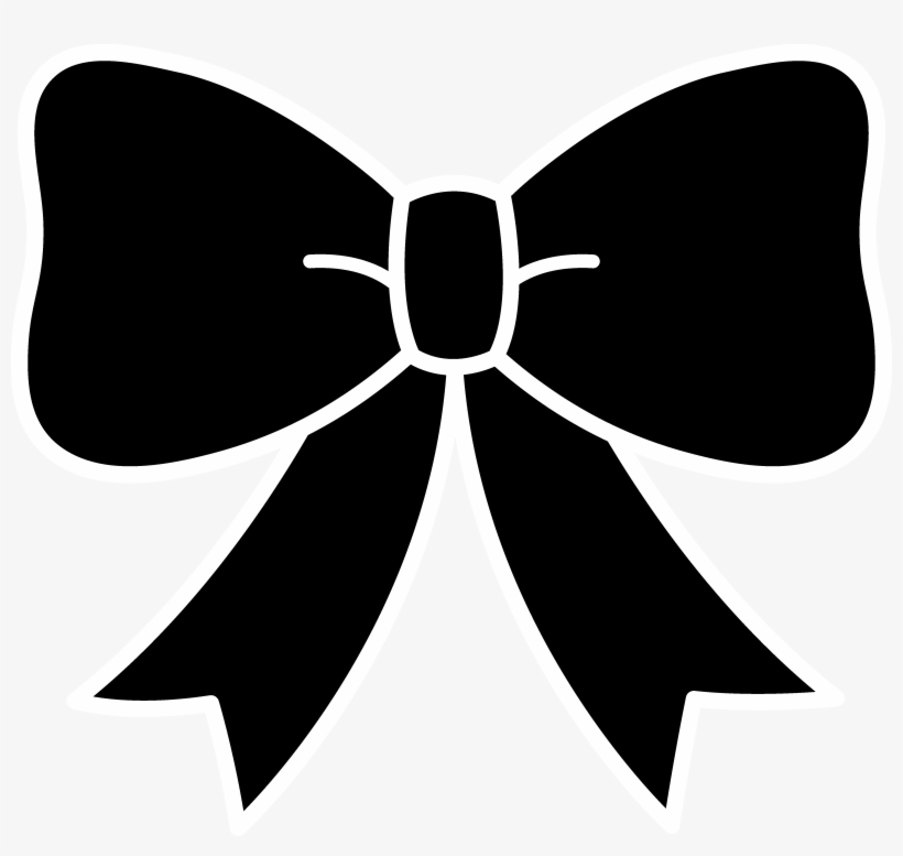 28 Collection Of Hair Bow Clipart Black And White.