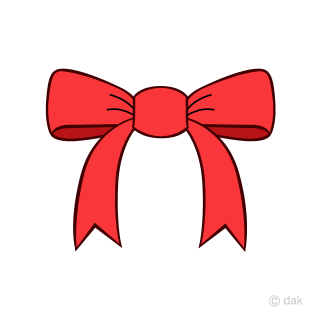 Free Red Bow Clipart Image|Illustoon.