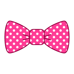 Free Pink Bow Clipart Image|Illustoon.