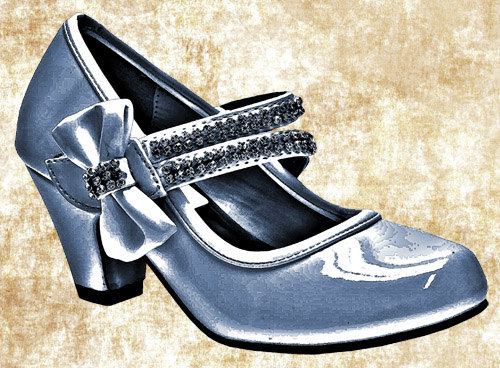 blue bow high heel shoe clip art png digital image download womens.