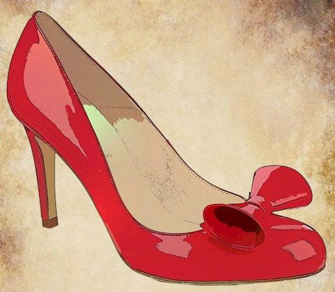 Shoe clips, Red bows and High heels on Pinterest.