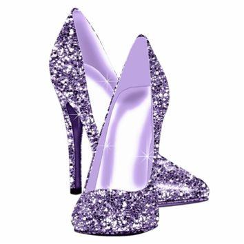 Glitter Purple Bow Clipart.