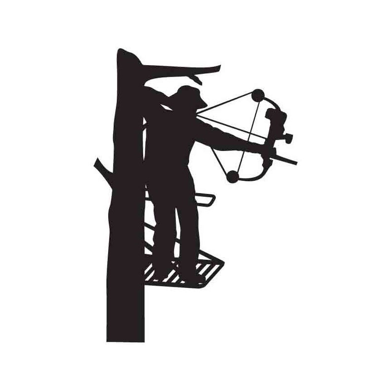 Bow Hunter INSTANT DOWNLOAD 1 vector .eps .svg .dxf .png Vinyl Cutter  Ready, T.