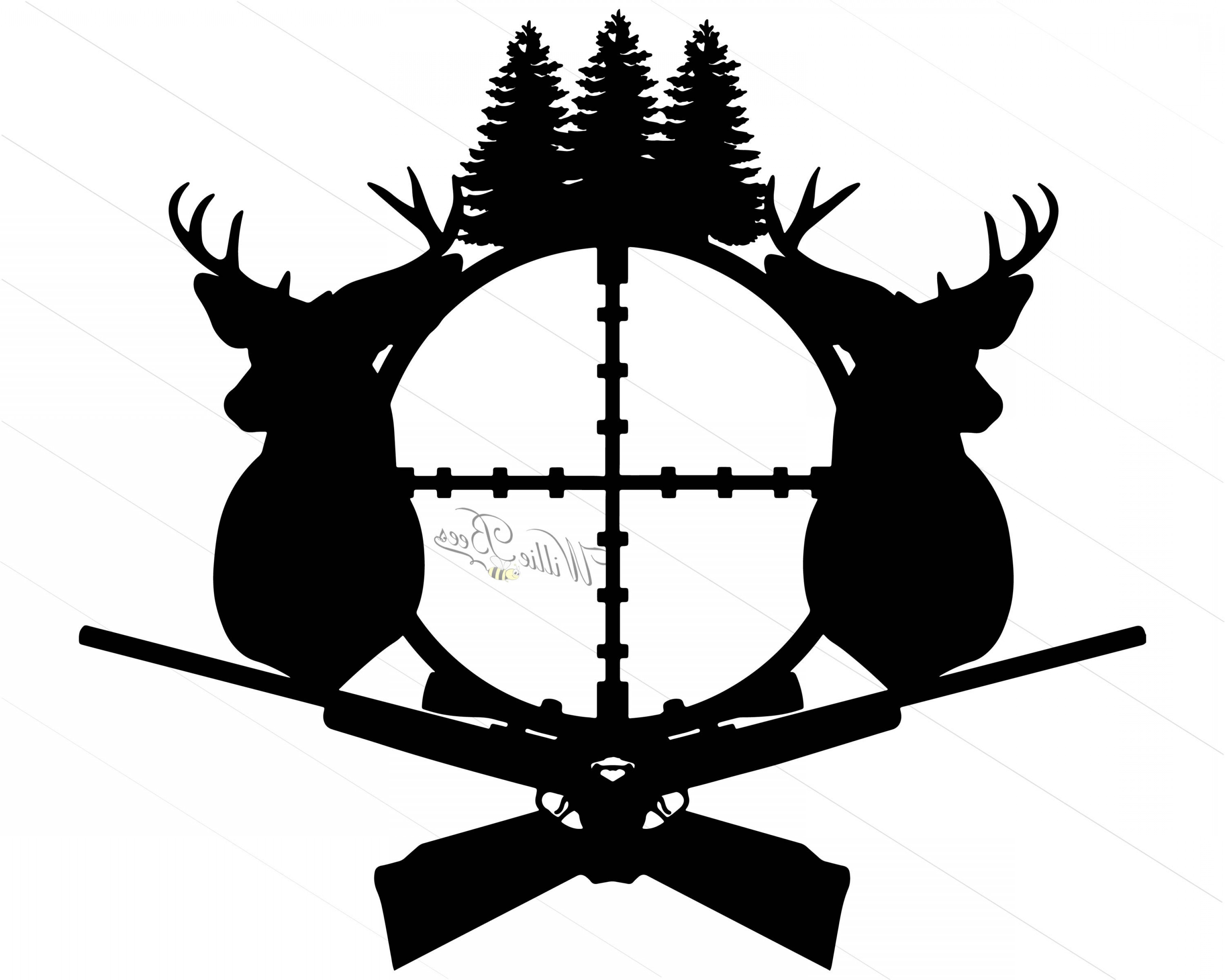 Deer Hunting Svg Silhouette Clipart Gone.