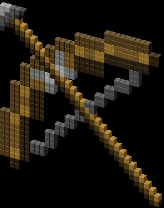 Minecraft Bow and Arrow Cursor.