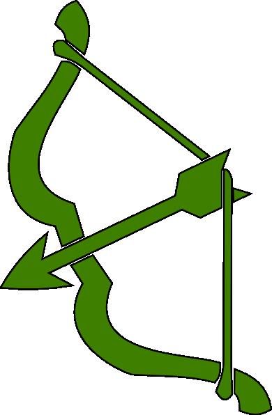 Green Bow N Arrow Clip Art at Clker.com.