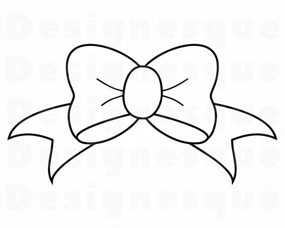 Bow clipart outline, Bow outline Transparent FREE for.