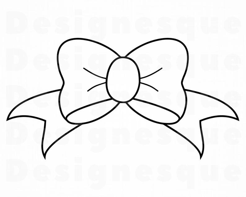 Bow Outline SVG Bow Tie Ribbon Svg Bow C #714934.