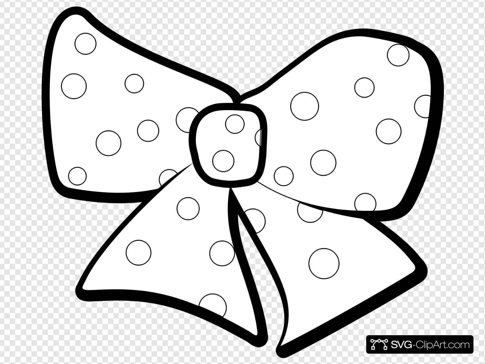 Bow Outline Clip art, Icon and SVG.