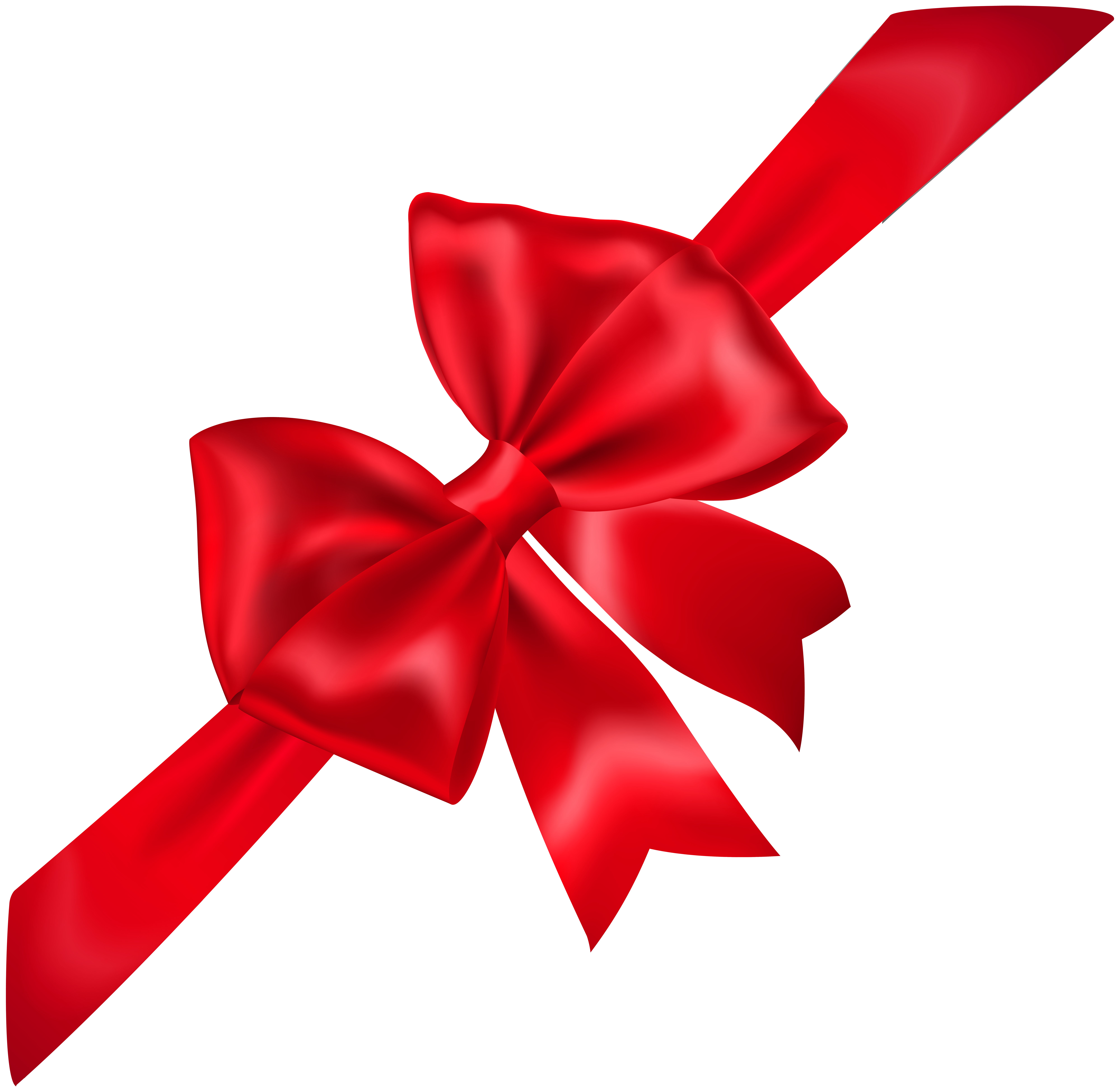 Red Bow Transparent PNG Image.