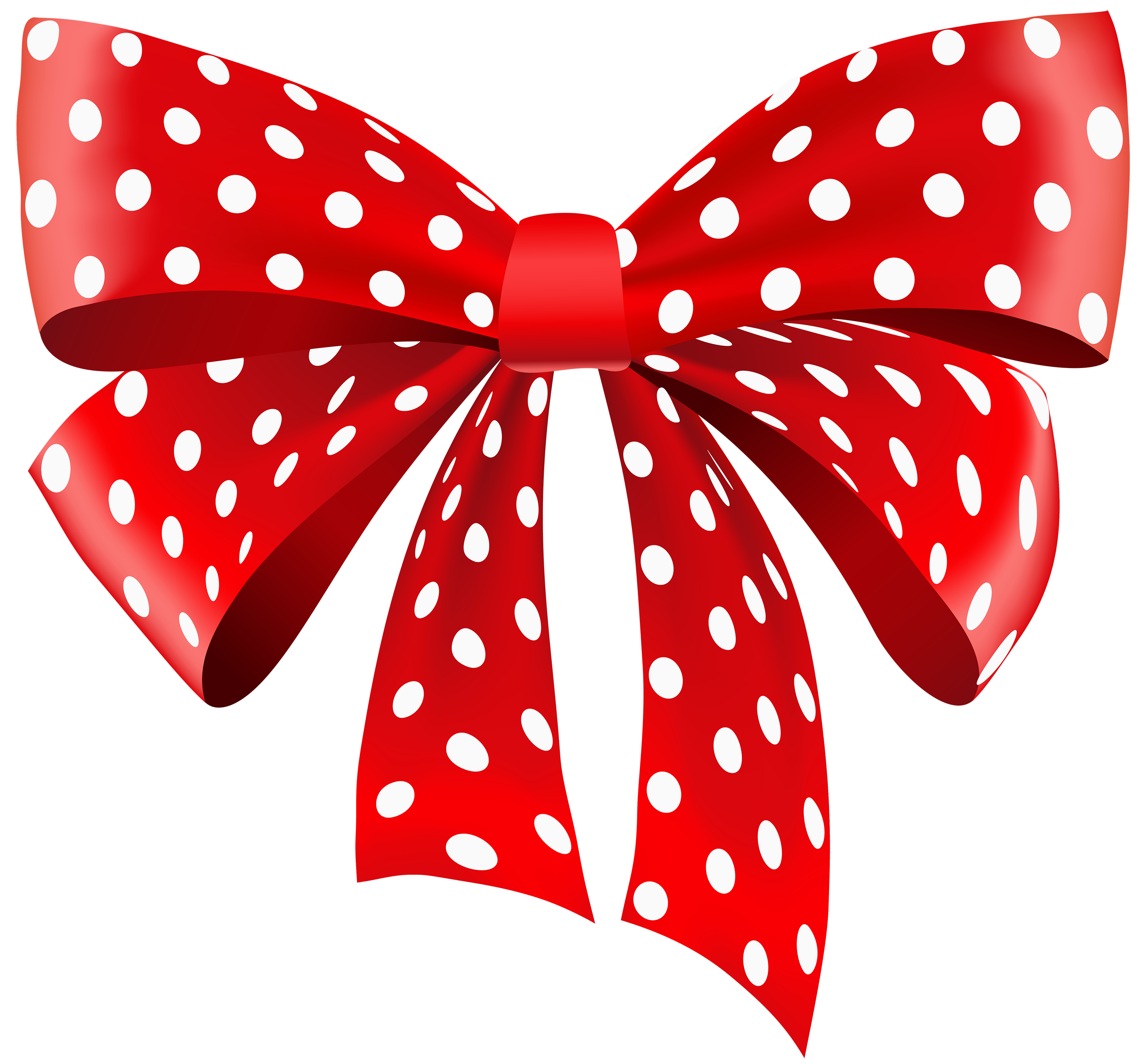 Red Dotted Ribbon PNG Clipart.