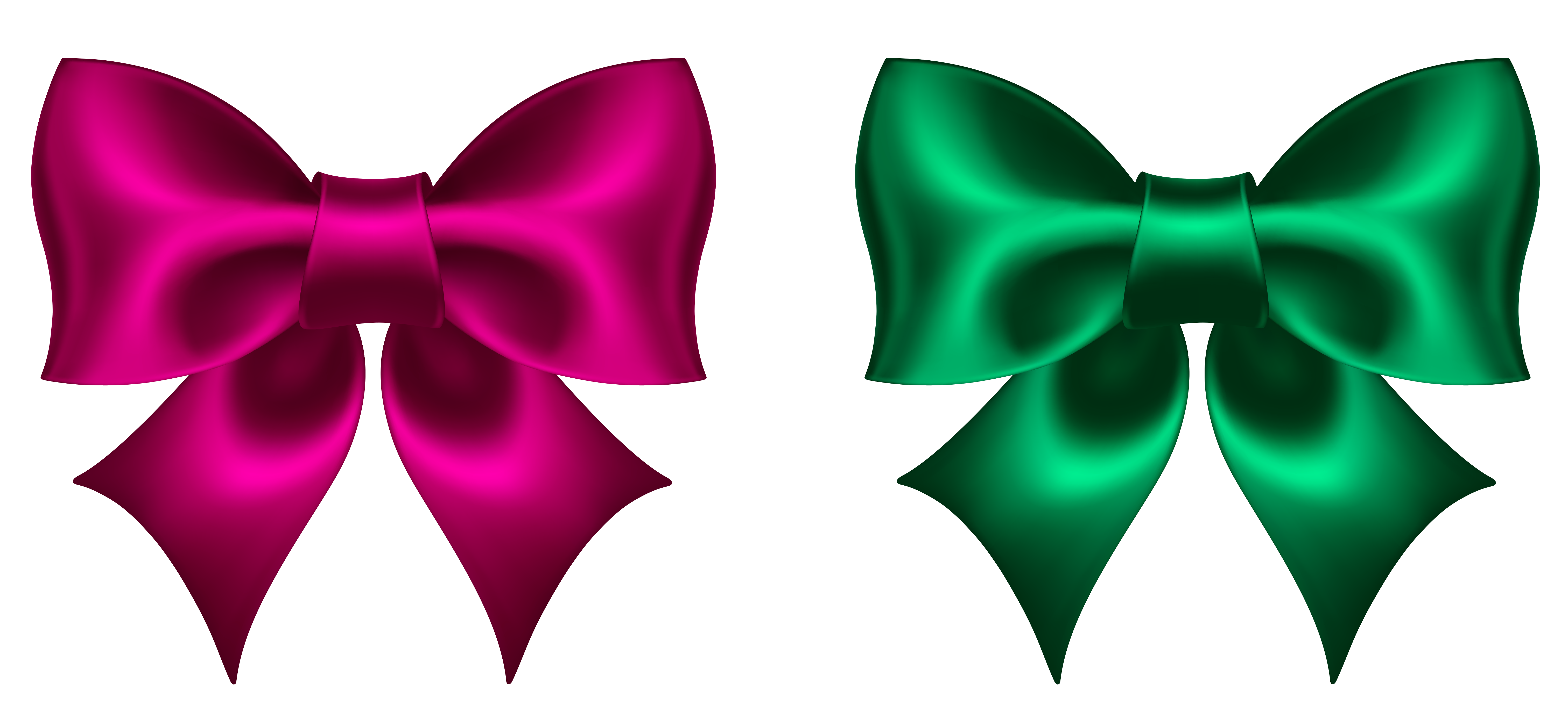 Download Free png Pink and Green Bow PNG Clipart Picture.