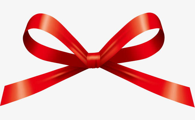 Download Free png Hand Painted Red Ribbon Bow, Ribbon Clipart, Bow.