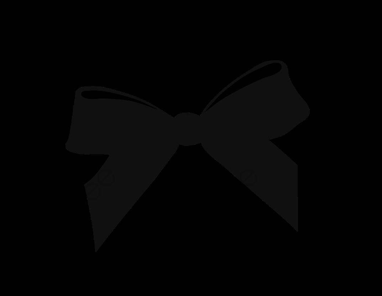 Black Hand Painted Ribbon Bow, Ribbon Clipart, Bow Clipart, Black.