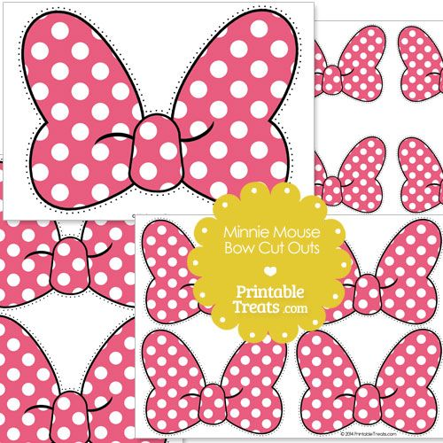 Pink Minnie Mouse Bow Cut Outs from PrintableTreats.com.