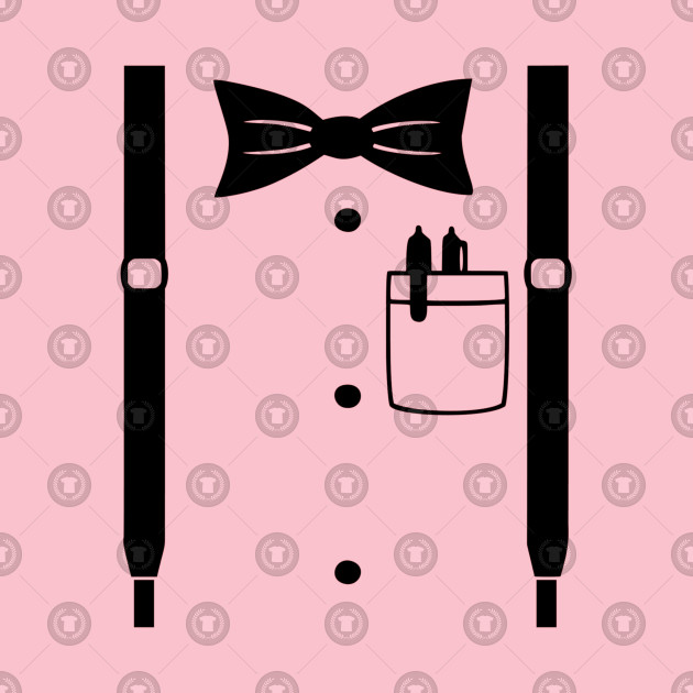 Suspenders Bowtie and Pocket Protector Nerdy.