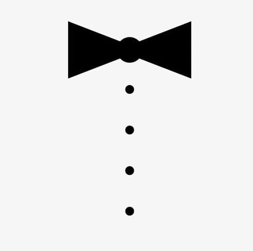 Black And White Dot Bow Tie PNG, Clipart, Black, Black And White.