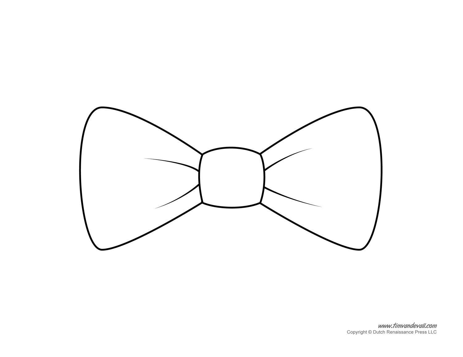 Bow tie clipart outline.