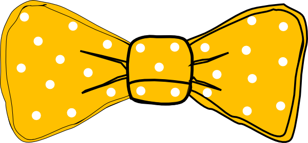 Orange bow tie clipart.