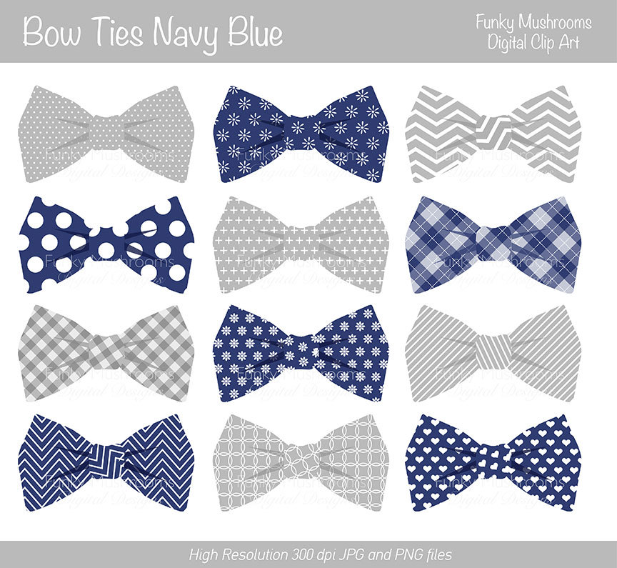 Striped Bow Tie Clipart.