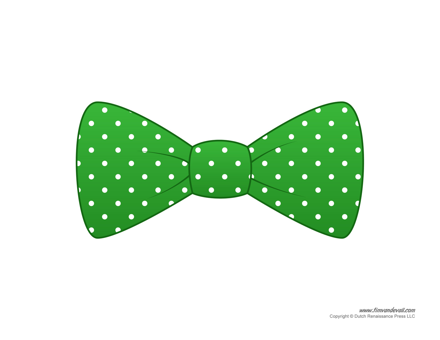 Green bow tie clipart.