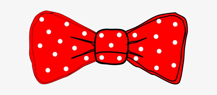 Bow Tie Red Polka Dot Clip Art.