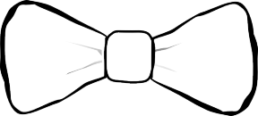 Bow Tie Outline Clipart.