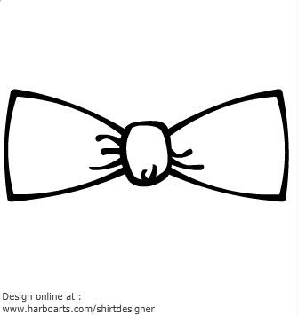 Bow Tie Outline Clip Art (30+).