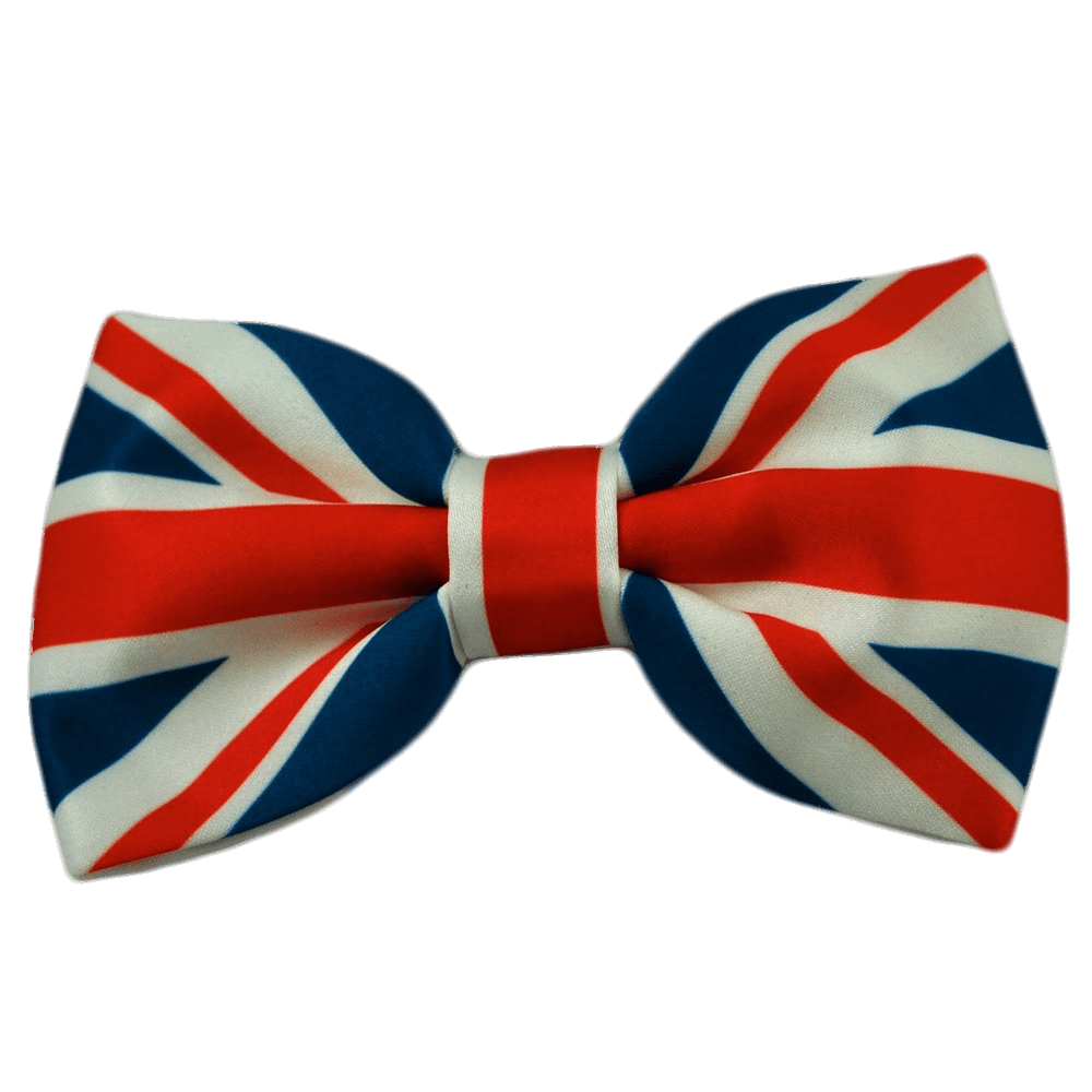 Union Jack Bow Tie transparent PNG.