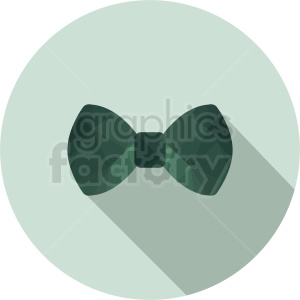 green bow tie vector clipart on circle background . Royalty.