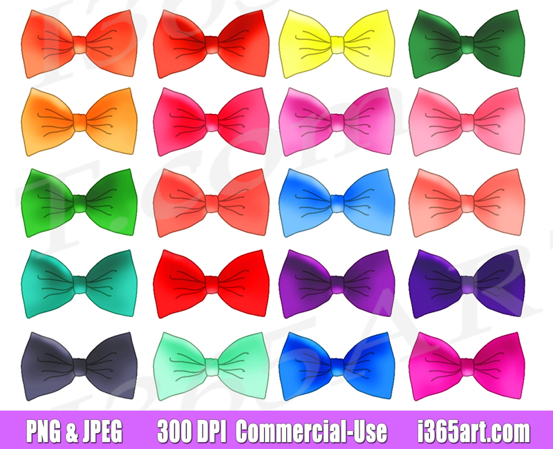 Bow tie Clipart, printables, planner supply icons, Commercial.