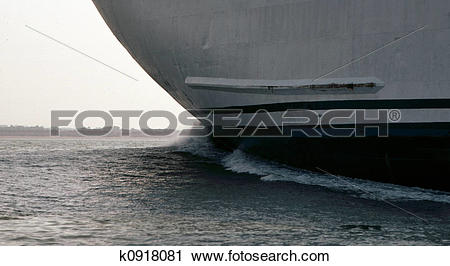 Stock Photography of Ship bow wave k0918081.