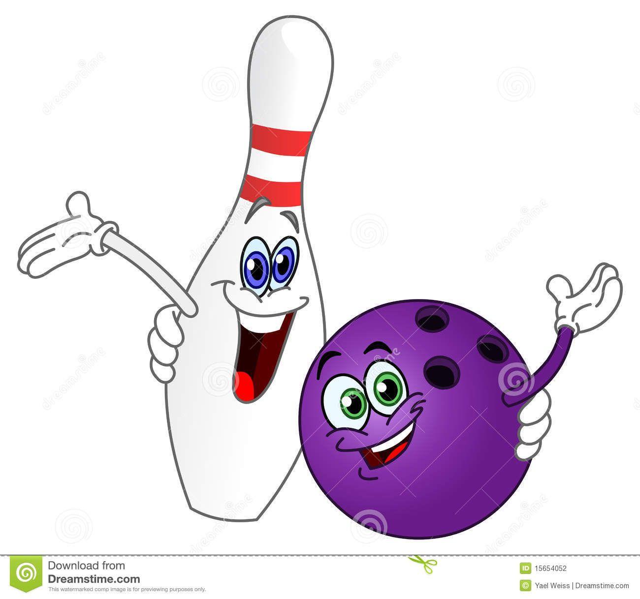 Cute Bowling Clip Art.