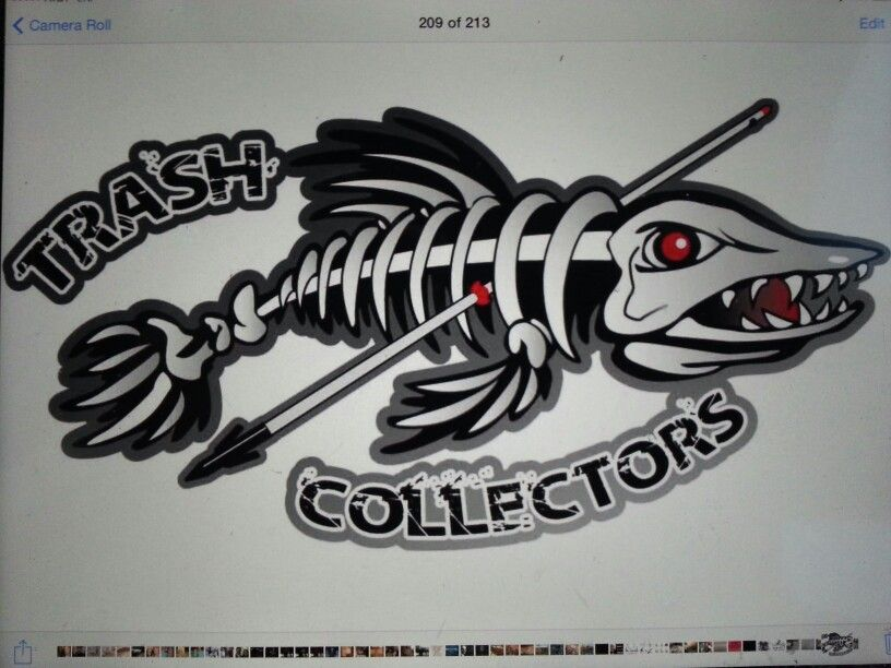 Bowfishing team logo.