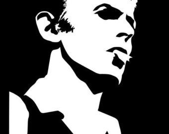 Clipart of david bowie.