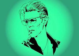 David Bowie, vector graphics.