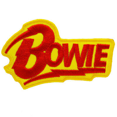 David Bowie Logo Iron On Patch Sew Rock Pop Icon Music Glam Retro 80s 70s  60s.