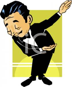 Man bowing clipart.