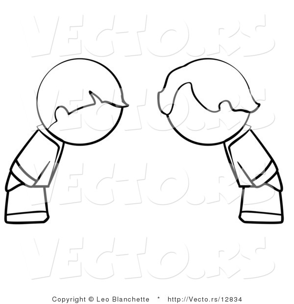 Boy bowing clipart.
