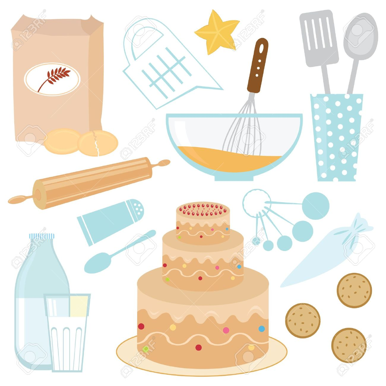 Baking A Cake Clip Art : Bowl cake clipart - Clipground