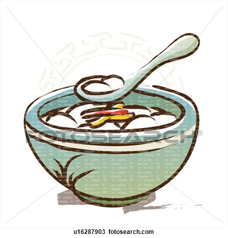 Soup And Cake Clipart.