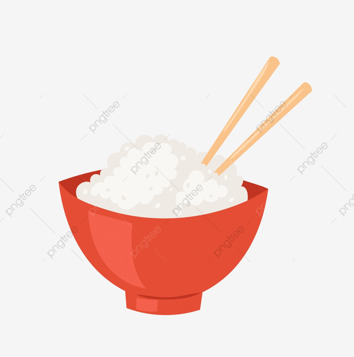 Rice Food Rice Bowl, Chopsticks, Cartoon Rice, Eat PNG Transparent.