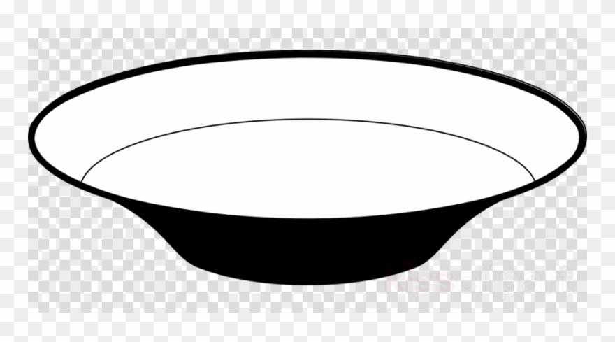 Dish Black And White Clipart Tableware Bowl Clip Art.