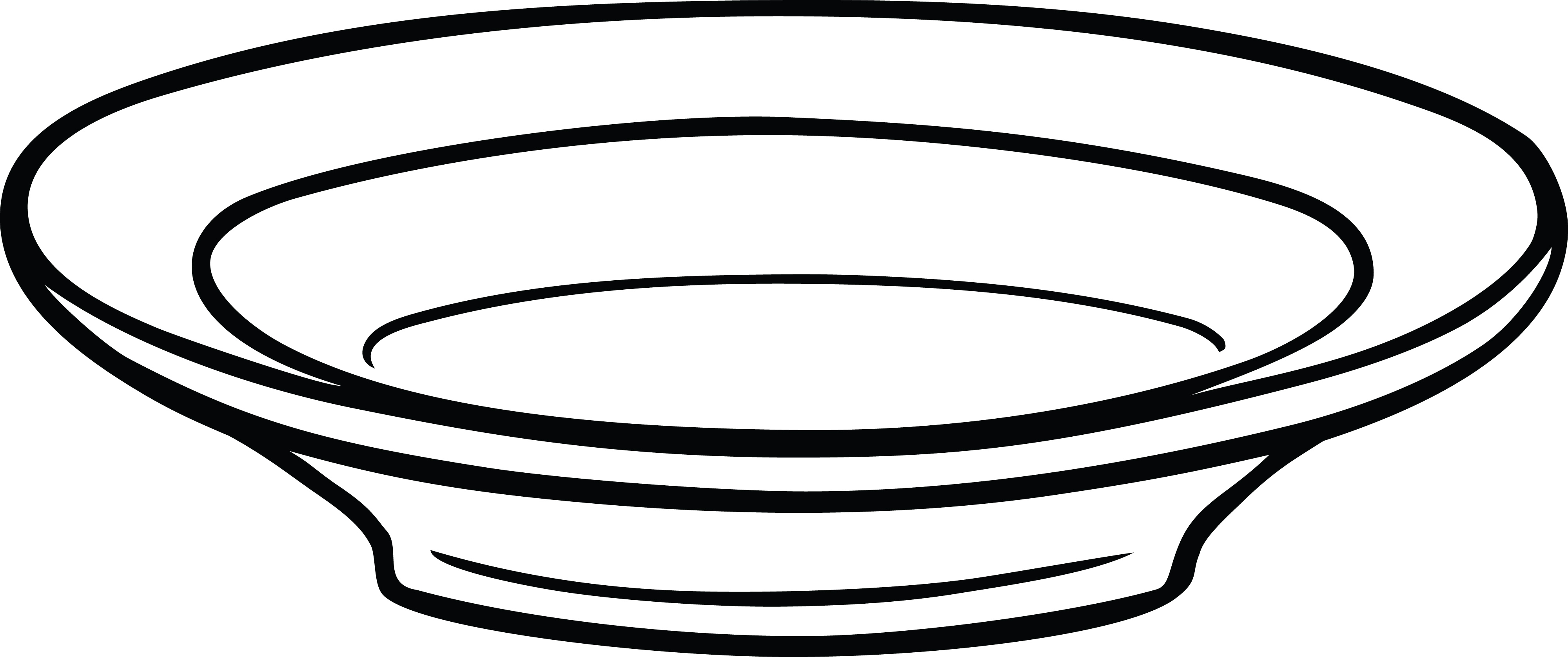 Free Clipart Of A shallow bowl.